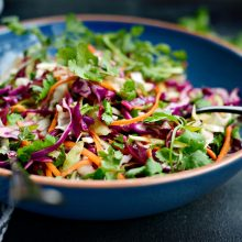 Cilantro Slaw with Lime Vinaigrette l SimplyScratch.com  (6)