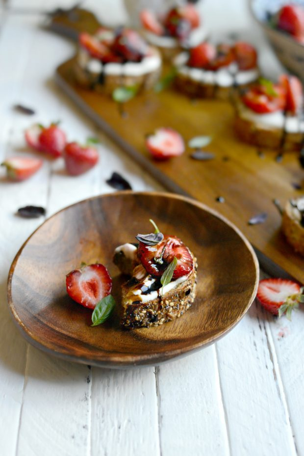 Strawberry Bruschetta with Honey Whipped Goat Cheese l SimplyScratch.com (7)