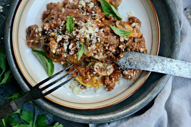 Beef + Mushroom Ragu over Fried Polenta l SimplyScratch.com (06)
