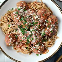 Slow Cooker Italian Turkey Meatballs