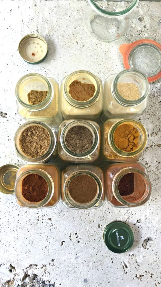 Homemade Spice Blends - spice jars