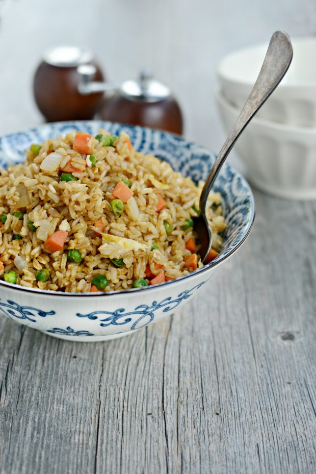 vegetable fried brown rice l simplyscratch.com
