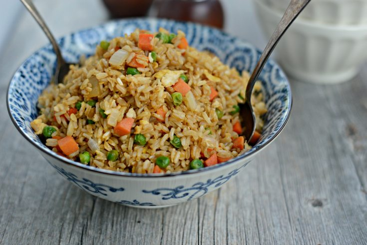 Easy Vegetable Fried Brown Rice with Egg