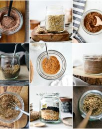 homemade spice blends collage
