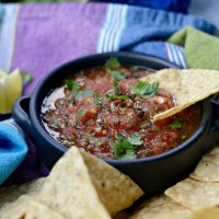 Easy Homemade Roasted Chipotle Salsa