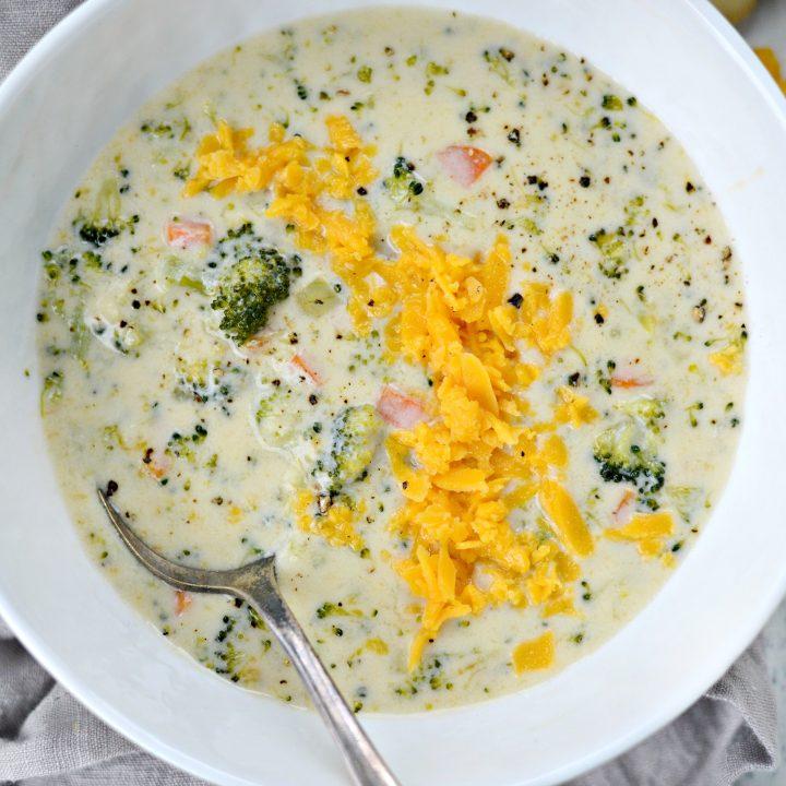 One Pot Broccoli Cheddar Soup