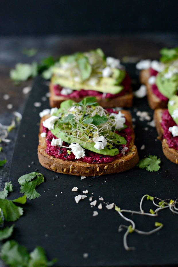 Simply Scratch Avocado Beet Hummus Toast Simply Scratch