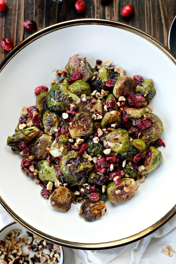 maple balsamic brussels sprouts l simplyscratch.com