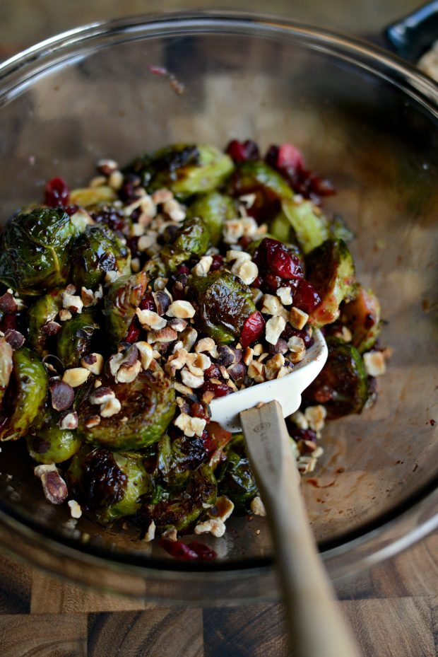 Simply Scratch Maple Balsamic Brussels Sprouts with Cranberries and ...