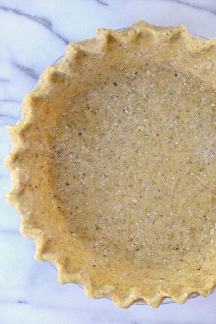 Pistachio Toasted Coconut Pie Crust