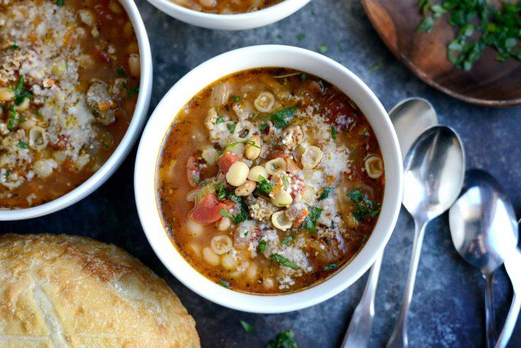 Italian Sausage White Bean Soup