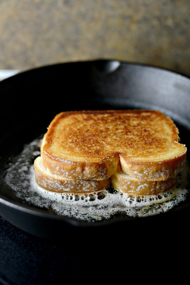 Double Decker Grilled Cheese Sandwich l SimplyScratch.com