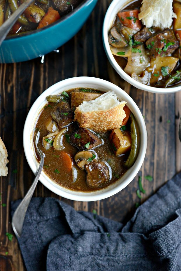 Oven Braised Beef Stew l SimplyScratch.com