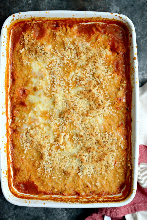 One-Pan Chicken Parmesan Casserole l SimplyScratch.com