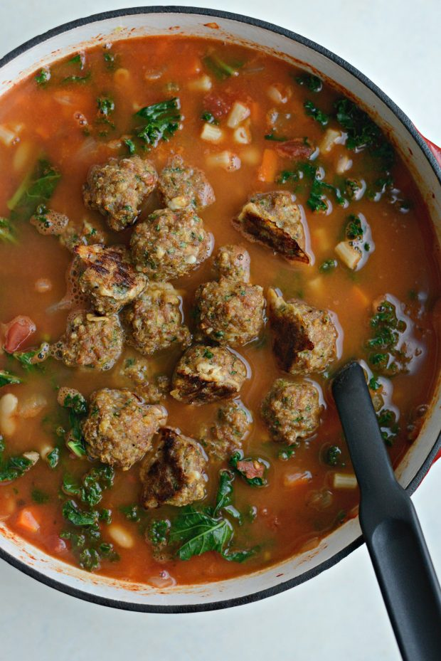 Italian Turkey Meatball Minestrone Soup l SimplyScratch.coom (10)