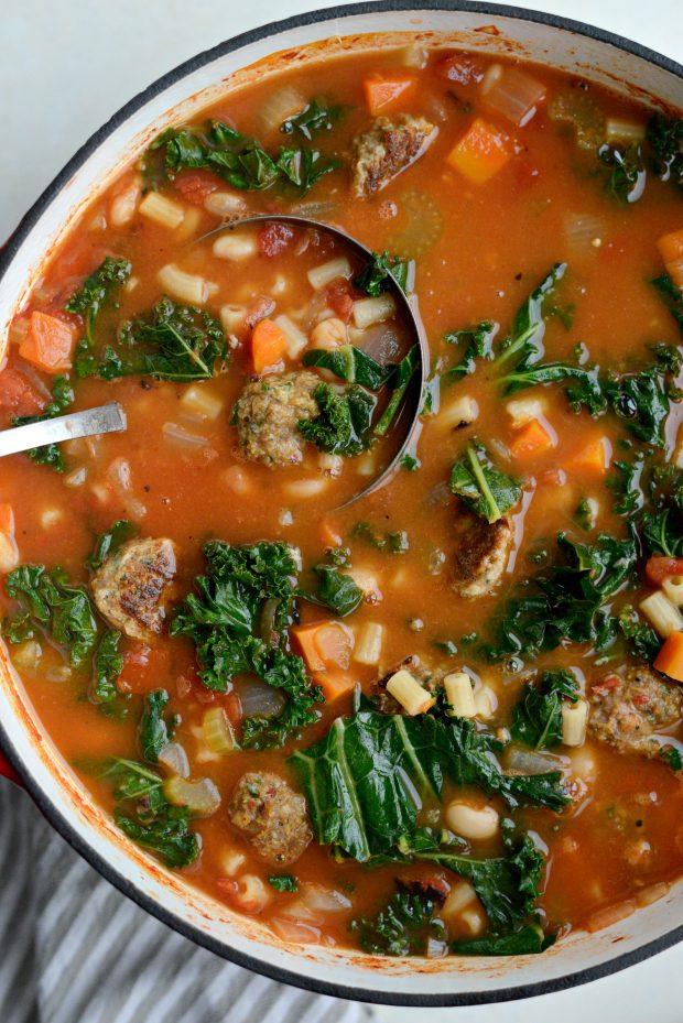 Italian Turkey Meatball Minestrone Soup l SimplyScratch.coom (11)
