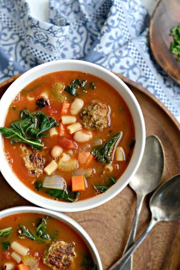 Italian Turkey Meatball Minestrone Soup l SimplyScratch.coom (12)