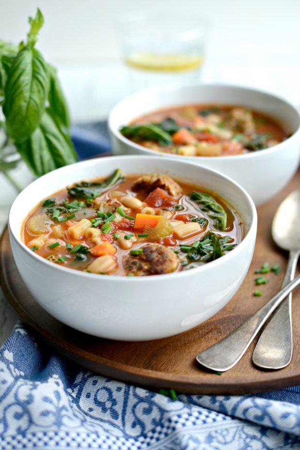 Italian Turkey Meatball Minestrone Soup l SimplyScratch.coom (13)