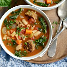 Italian Turkey Meatball Minestrone Soup l SimplyScratch.coom (15)