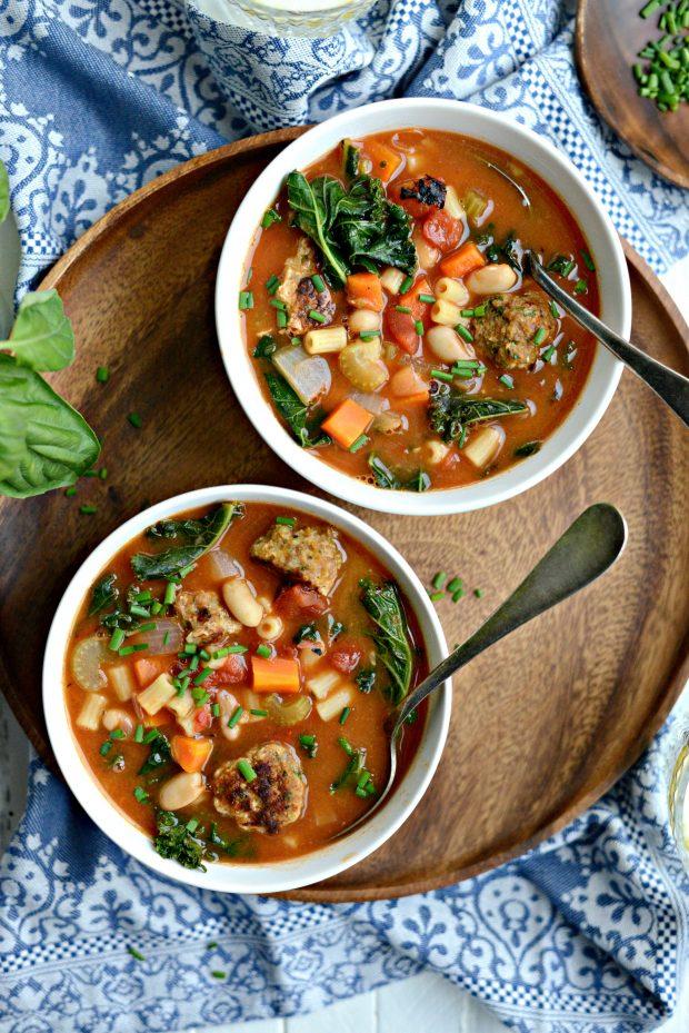 Italian Turkey Meatball Minestrone Soup l SimplyScratch.coom (17)