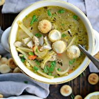 Lemon Rosemary Chicken Noodle Soup