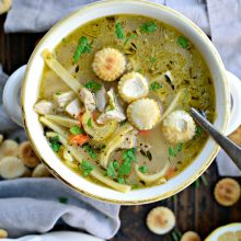 Lemon Rosemary Chicken Noodle Soup l SimplyScratch.com (13)