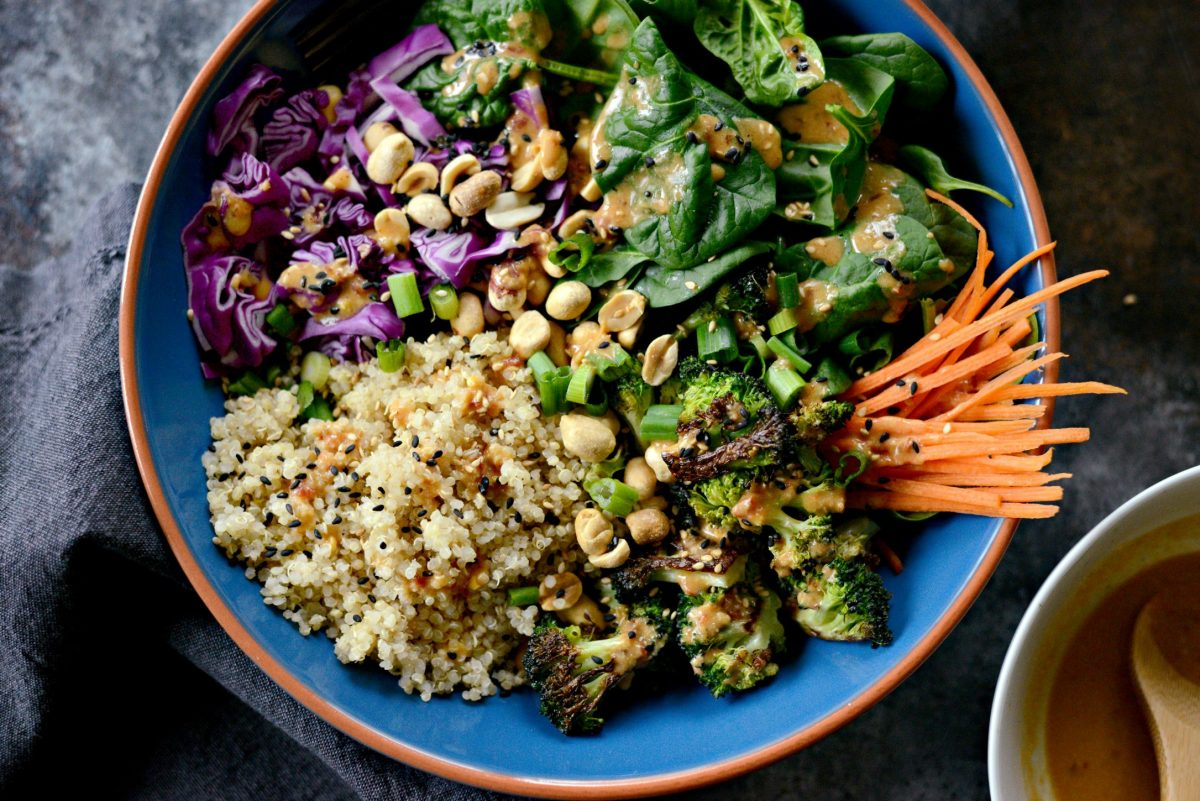 Asian Charred Broccoli Quinoa Bowl