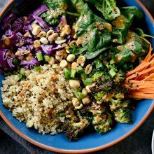 Asian Charred Broccoli Quinoa Bowl l SimplyScratch.com (4)
