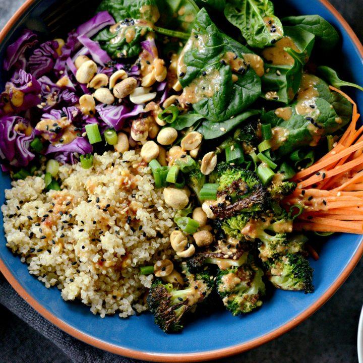 Asian Charred Broccoli Quinoa Bowls