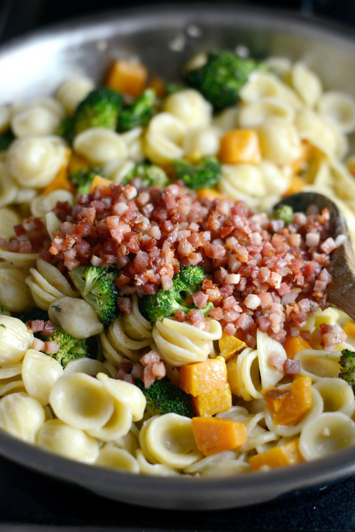Orecchiette Pasta with Pancetta, Butternut Squash and Broccoli l SimplyScratch.com (12)