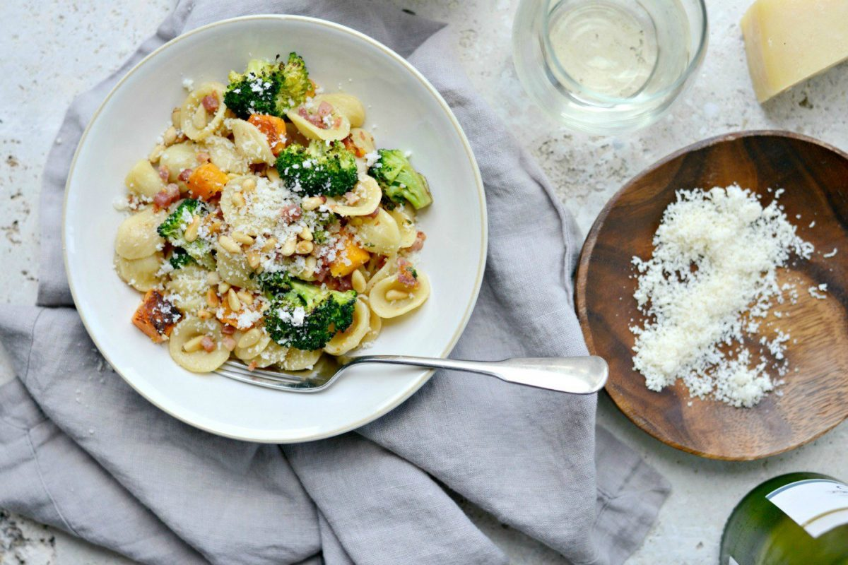 Orecchiette Pasta with Pancetta, Butternut Squash and Broccoli l SimplyScratch.com (18)
