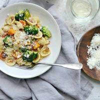 Orecchiette Pasta with Pancetta, Butternut Squash and Broccoli