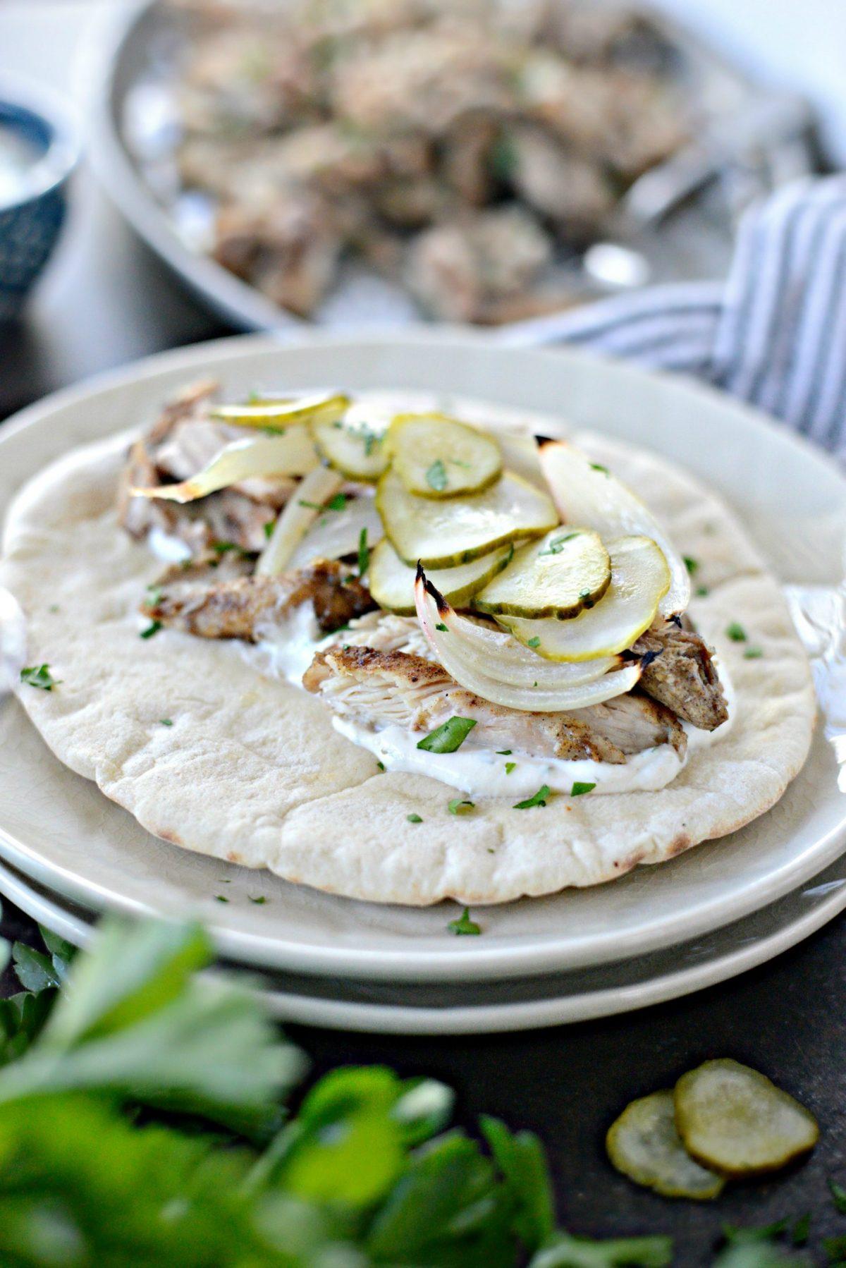 Sheet Pan Chicken Shawarma Wraps l SimplyScratch.com (9)