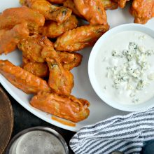 Spicy Garlic Chicken Wings with Blue Cheese Dip l SimplyScratch.com l SimplyScratch.com (15)