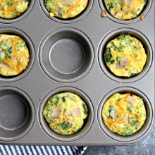 Turkey, Broccoli and Cheddar Mini Frittatas l SimplyScratch.com