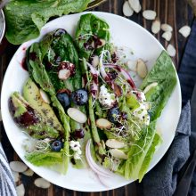 Blueberry Almond Salad with Goat Cheese, Avocado and Blueberry Balsamic Vinaigrette l SimplyScratch.com (11)