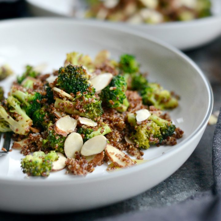 Easy Lemon Broccoli Almond Quinoa