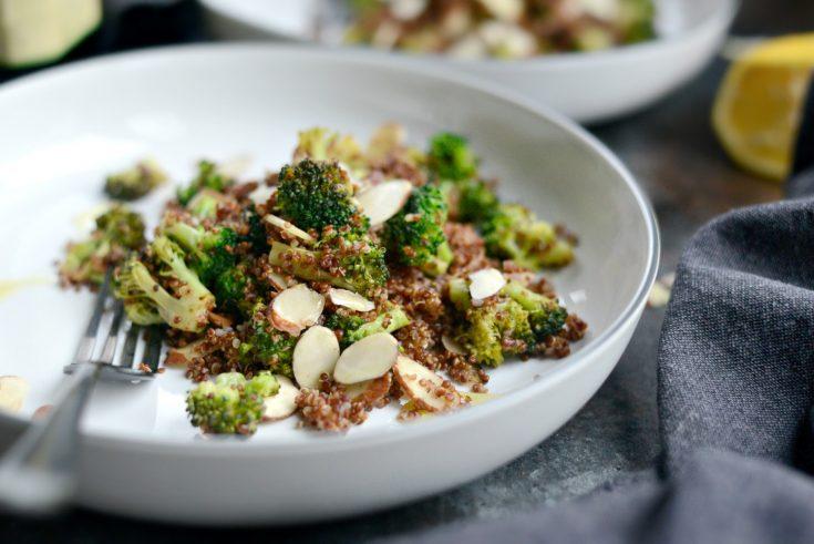 Easy Lemon Broccoli Almond Quinoa