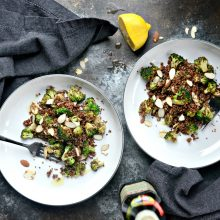 Broccoli Almond Quinoa l SimplyScratch.com (9)