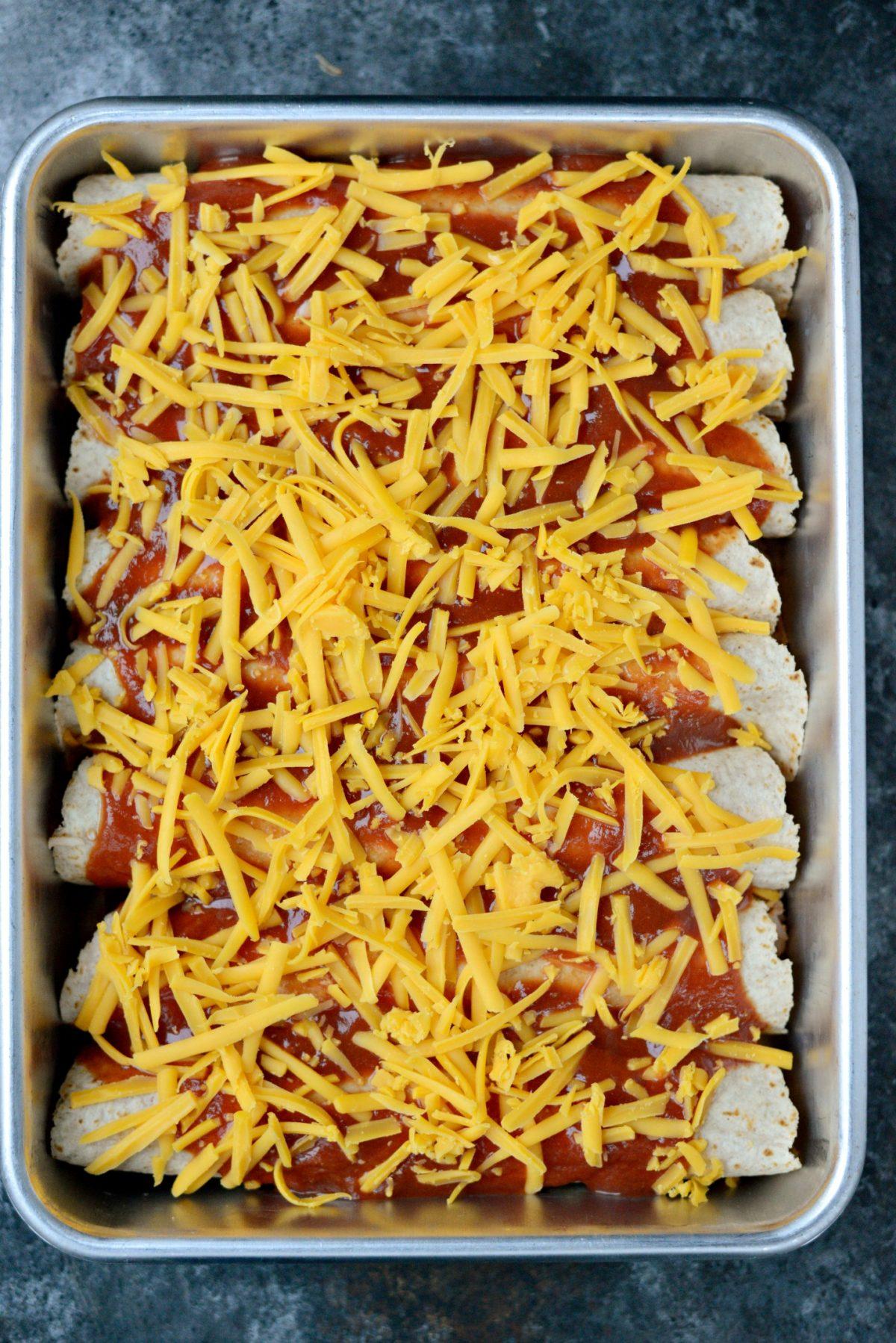 Chicken and Rice Enchiladas l SimplyScratch.com (7)