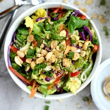 Crunchy Asian Veggie Salad with Ginger Peanut Dressing l SimplyScratch.com (5)