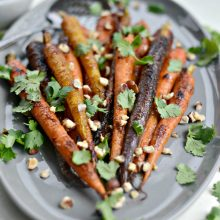 Miso Honey Glazed Whole Roasted Carrots l SimplyScratch.com (10)