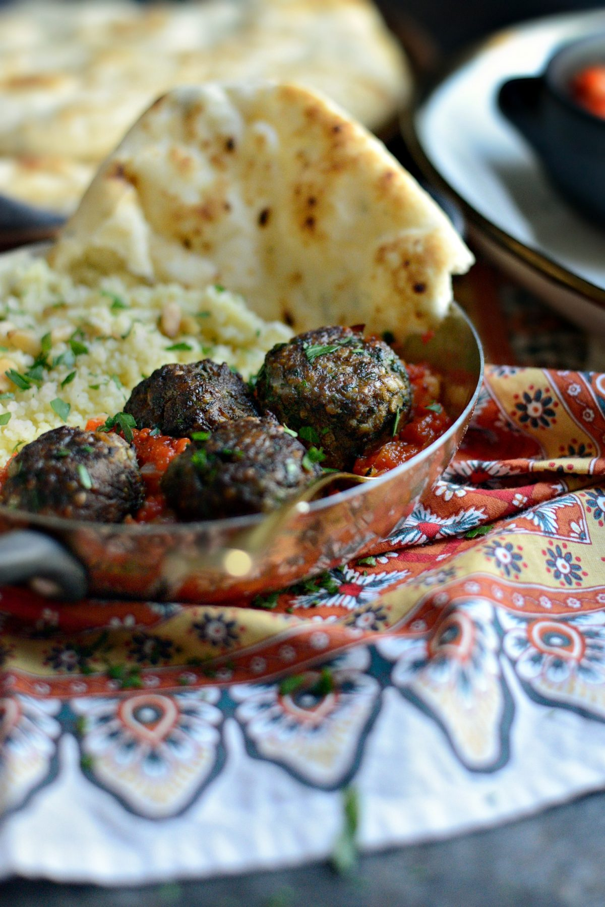 African Spiced Lamb Meatballs with Roasted Red Pepper Harissa l SimplyScratch.com (18)
