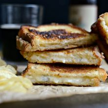 Fancy Three-Cheese Grilled Cheese Sandwich l SimplyScratch.com (8)
