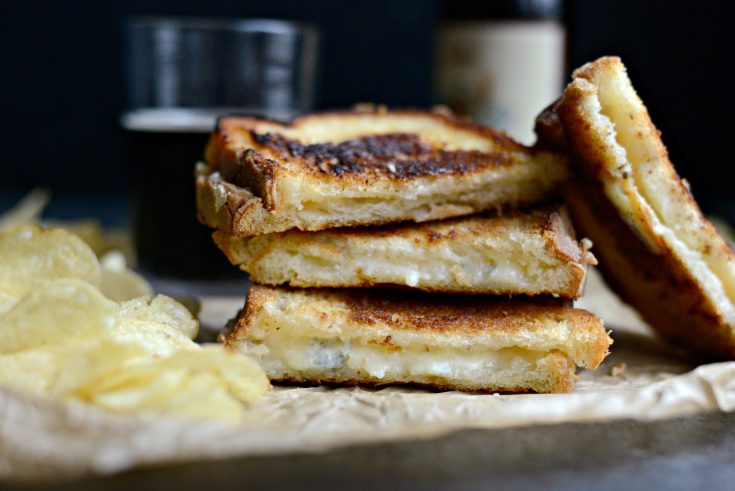 Fancy Three-Cheese Grilled Cheese Sandwich