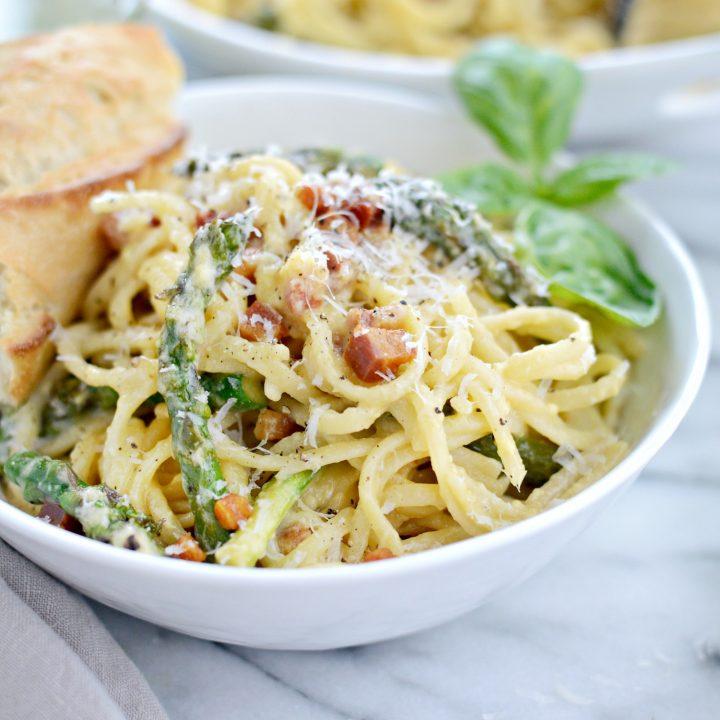 Pancetta Asparagus Carbonara