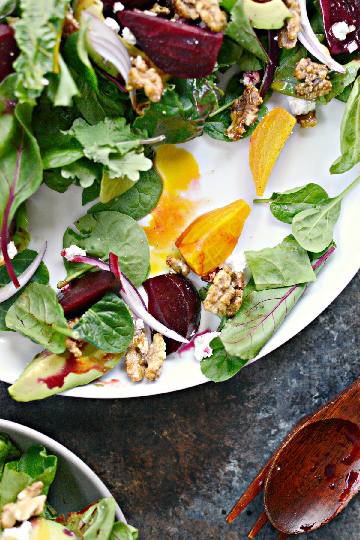 Roasted Beet Salad with Avocado, Goat Cheese And Honey Dijon Vinaigrette l SimplyScratch.com (16)