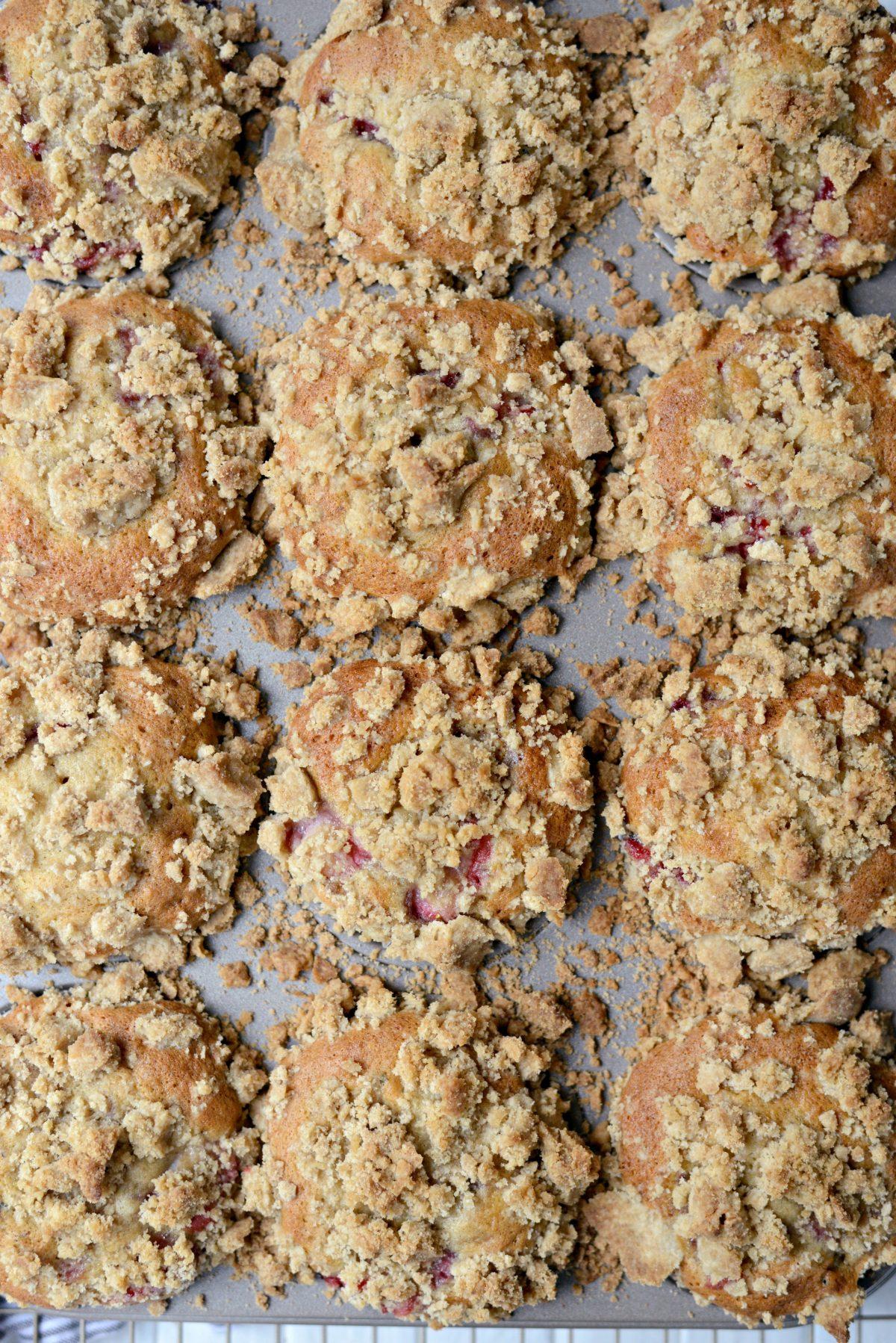 Strawberry Lemon Lavender Crumb Muffins l SimplyScratch.com (15)