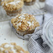 Strawberry Lemon Lavender Crumb Muffins l SimplyScratch.com (20)
