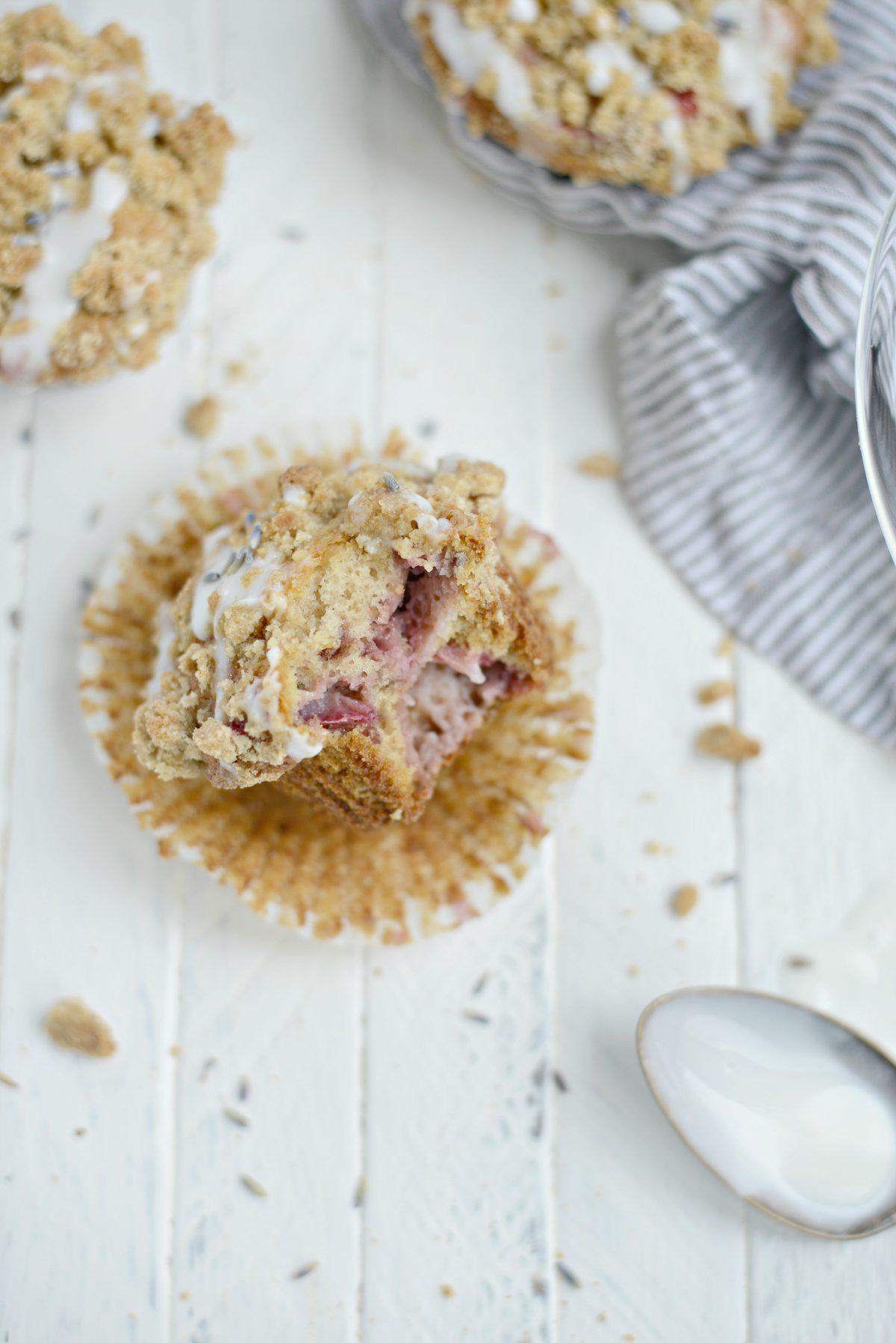 Strawberry Lemon Lavender Crumb Muffins l SimplyScratch.com (22)